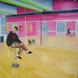 karen, the owner of hotstepper dancestudio, 80x80cm 2010